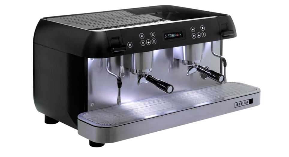 Iberital Expression Pro Two Group Espresso Machine Side View