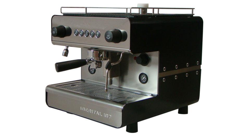 Iberital IB7 Single Group Espresso Machine Side View