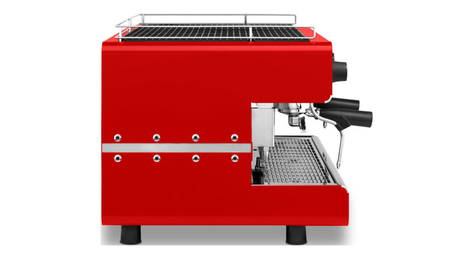 Iberital IB7 Two Group Espresso Machine Red