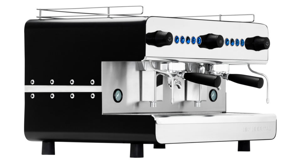 Iberital IB7 Two Group Espresso Machine Side View