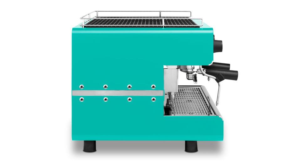 Iberital IB7 Two Group Compact Espresso Machine Tifany Blue
